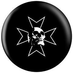 OTB Iron Cross Skull Bowling Ball