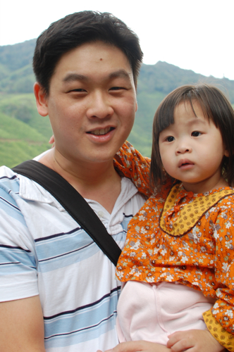 Adino and Rachel Chang in Cameron Highlands 2010
