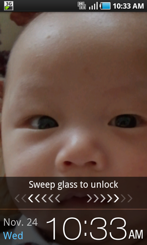 New Froyo Unlock Screen