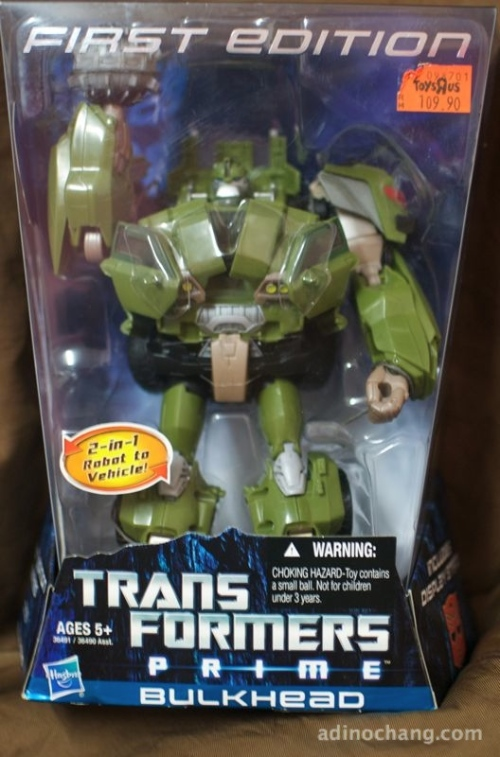 transformers prime bulkhead first edition box front
